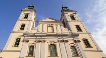 The church named Nagyboldogasszony-templom in Budapest Banco de Imagens