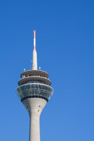 TV tower Dusseldorf - Copyspace right Banco de Imagens
