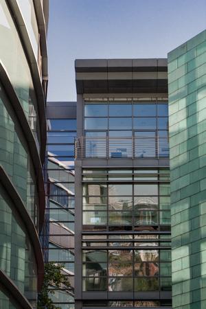 Various modern business buildings in Dusseldorf