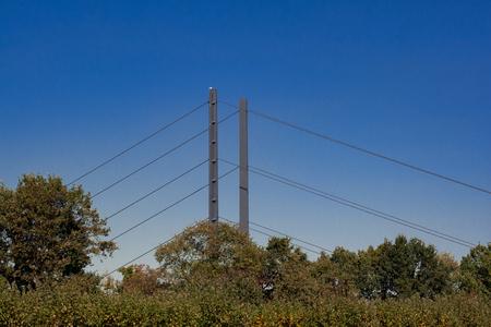 The Rhine Knee Bridge over the Rhine in Dusseldorf