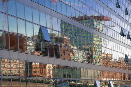 Media Harbor Dusseldorf Banco de Imagens