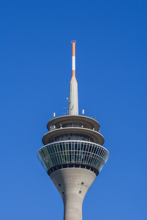 Rhenus - The D?sseldorf TV Tower is a well-known landmark of the state capital of North Rhine-Westphalia Banco de Imagens