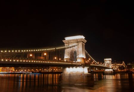 The Chain Bridge in Budapest, the capital of Hungary