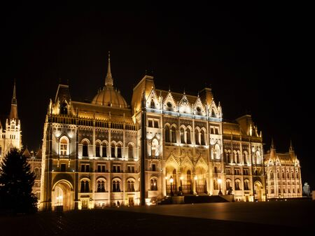The parliament in Budapest, Parliament building in the capital of Hungary, Europe Banco de Imagens - 132197162