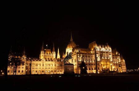 The parliament in Budapest, Parliament building in the capital of Hungary, Europe Banco de Imagens