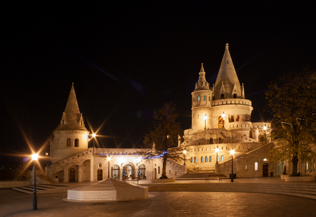 The Fisherman's Bastion (Halaszbastya) and St. Istvan statue on the castle hill in Budapest, Hungary Editorial