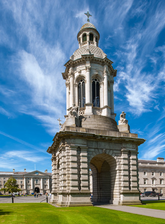 trinity: The Campanelli  Bell Tower  at Trinity College, Dublin, Ireland