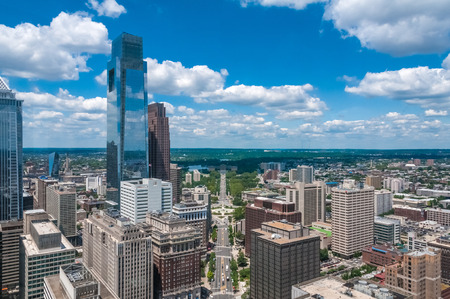 The skyline of Philadelphia, USA photo