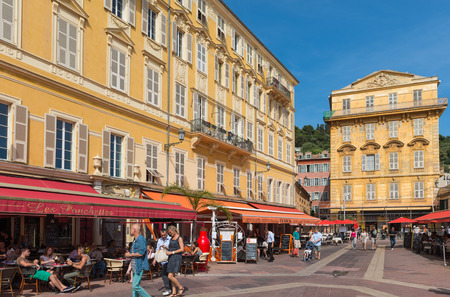 Place Charles Felix in the old town area of Nice