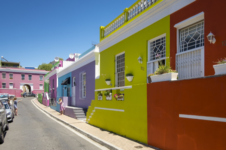 De voormalige township van Bo Kaap, Kaapstad, Zuid-Afrika