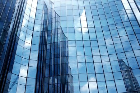 Close-Up modern office building. building with copy space. windows office building for background Stock Photo