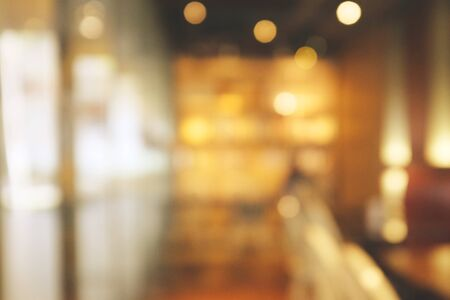 Background blurred Modern cafe, cafe blurred background with bokeh