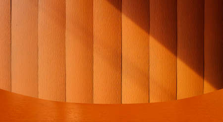 orange wood textured wall. abstract graphic background for key visual. Standard-Bild