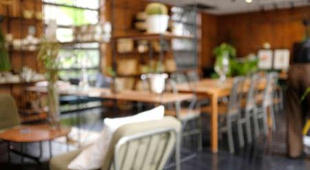 Blur background Modern mid Century room interior.cafe style Standard-Bild