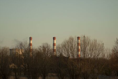Chimneys of a coal power plant.