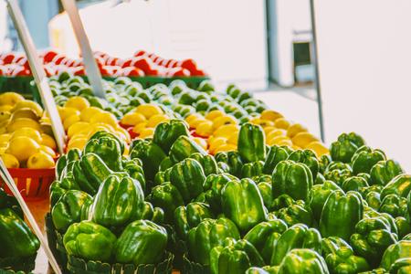 Peppers at the market Reklamní fotografie - 85447531