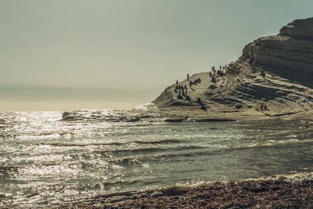 Turkish steps in Agrigento, Italy Reklamní fotografie