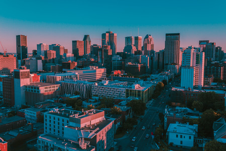 Aerial shot of Montreal Reklamní fotografie - 92691167