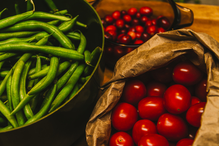 Tomatoes and green beans