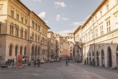 Downtown Perugia, Italy Redakční