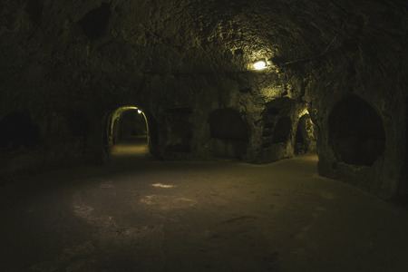 Dark crypts of Syracuse, Italy