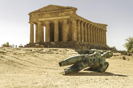 Temple of Concordia in Agrigento, Italy Reklamní fotografie