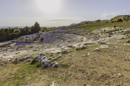 The Ancient greek theater of Syracuse, Italy
