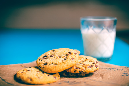 Regular cookies and milk