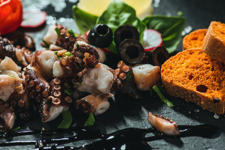 Traditional mediterranean octopus salad Reklamní fotografie