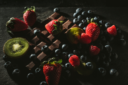 Dark berries and milk chocolate