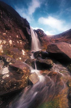 dingle: small waterfall at Conor Pass near Dingle, Co.Kerry, Ireland