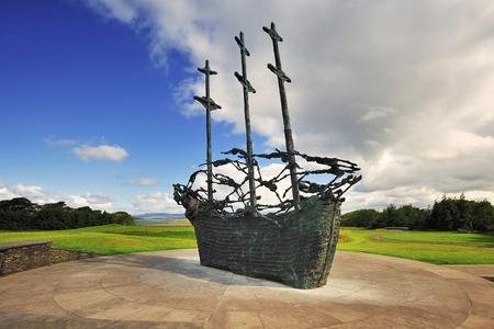 Famine Memorial at Murrisk, Co.Mayo, Ireland