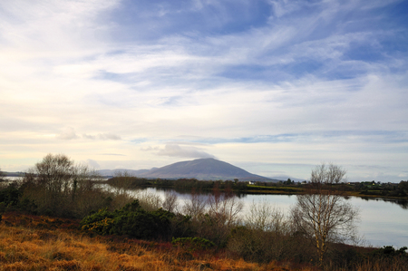 lough: Lough Conn   This Co. Mayo Lough in the North West of Ireland is approximately 9 miles, 5.5km long and 3miles, 1.5km wide. Stock Photo