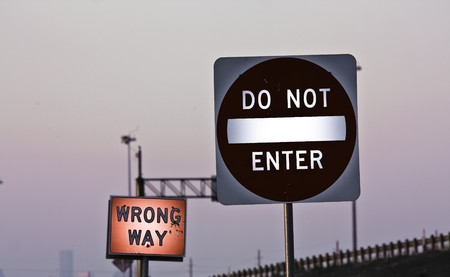 bright effects on street signs photo