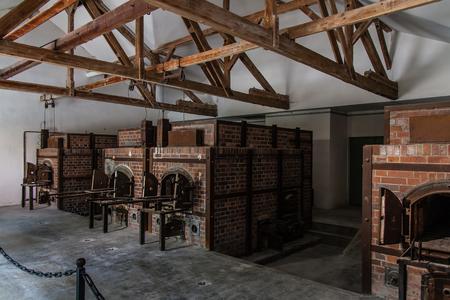 The crematorium of the Dachau Concentration Camp
