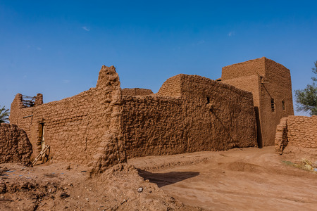Traditional Arab mud architecture, Riyadh Province, Saudi Arabia