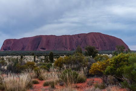 Uluru (Ayers Rock) in the cloudy morning, Australia