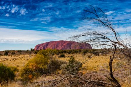 Uluru (Ayers Rock) on a sunny day, Australia