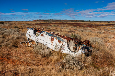 Abandoned in the outback Stock Photo