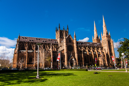 gothic revival: The Cathedral Church and Minor Basilica of the Immaculate Mother of God, Help of Christians, Sydney Editorial