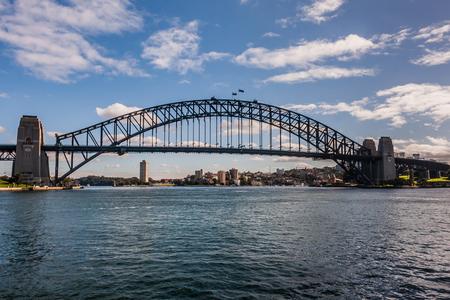 sydney skyline: The Sydney Harbor Bridge