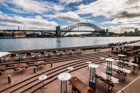 The Sydney Harbor and Bridge Stock Photo