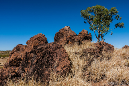 Ubiquitous rock formations in the Australian outback