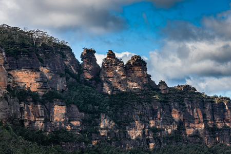 The Three Sisters rock formation in  Blue Mountains National Park, NSW, Australia