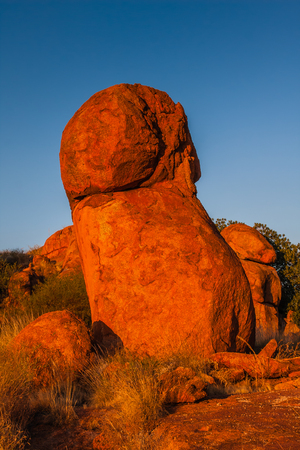 A unique granite formation in the Devils Marbles Conservation Reserve, Northern Territory, Australia