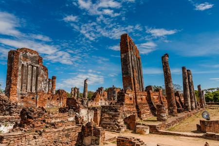 The Buddhist Temple (Wat Thammikarat), Ayutthaya Historical Park, Thailand