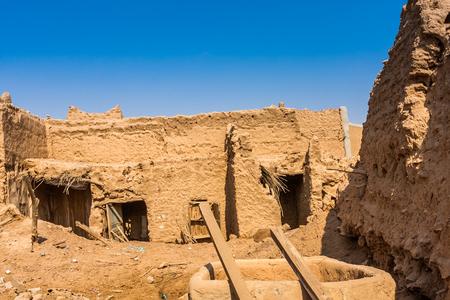 Traditional Arab mud brick architecture in Al Majmaah, Saudi Arabia Stock Photo