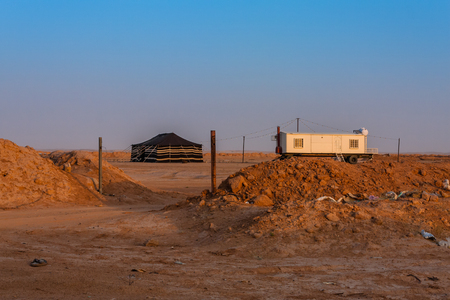 A typical Bedouin residence near Riyadh, Saudi Arabia