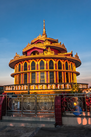 A pavilion near the Golden Rock Pagoda Myanmar