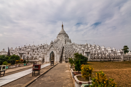 Hsinbyume Pagoda, Mingun, Myanmar Stock Photo